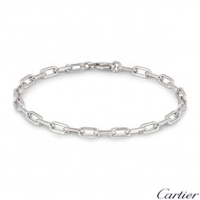 Cartier White Gold Santos-Dumont Chain Bracelet B6021400